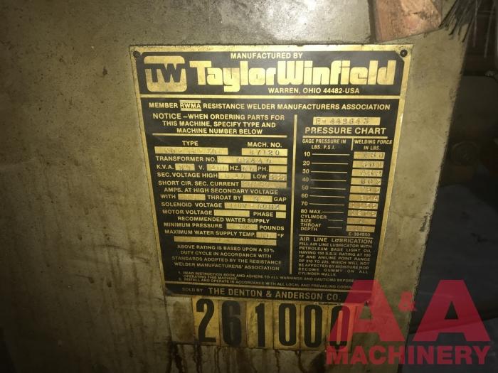 Taylor Winfield Type ND-18-50 Spot Welder