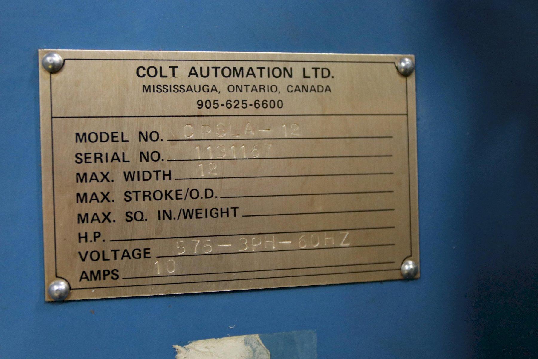 """12"""" X .100"""" COLT MODEL #CPSLA-12 STOCK STRAIGHTENER: STOCK #12207"""