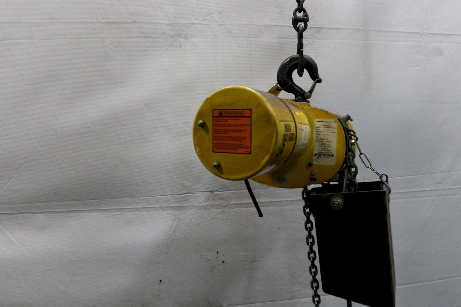 1/4 TON BUDGIT ELECTRIC POWERED CHAIN HOIST: STOCK #11987