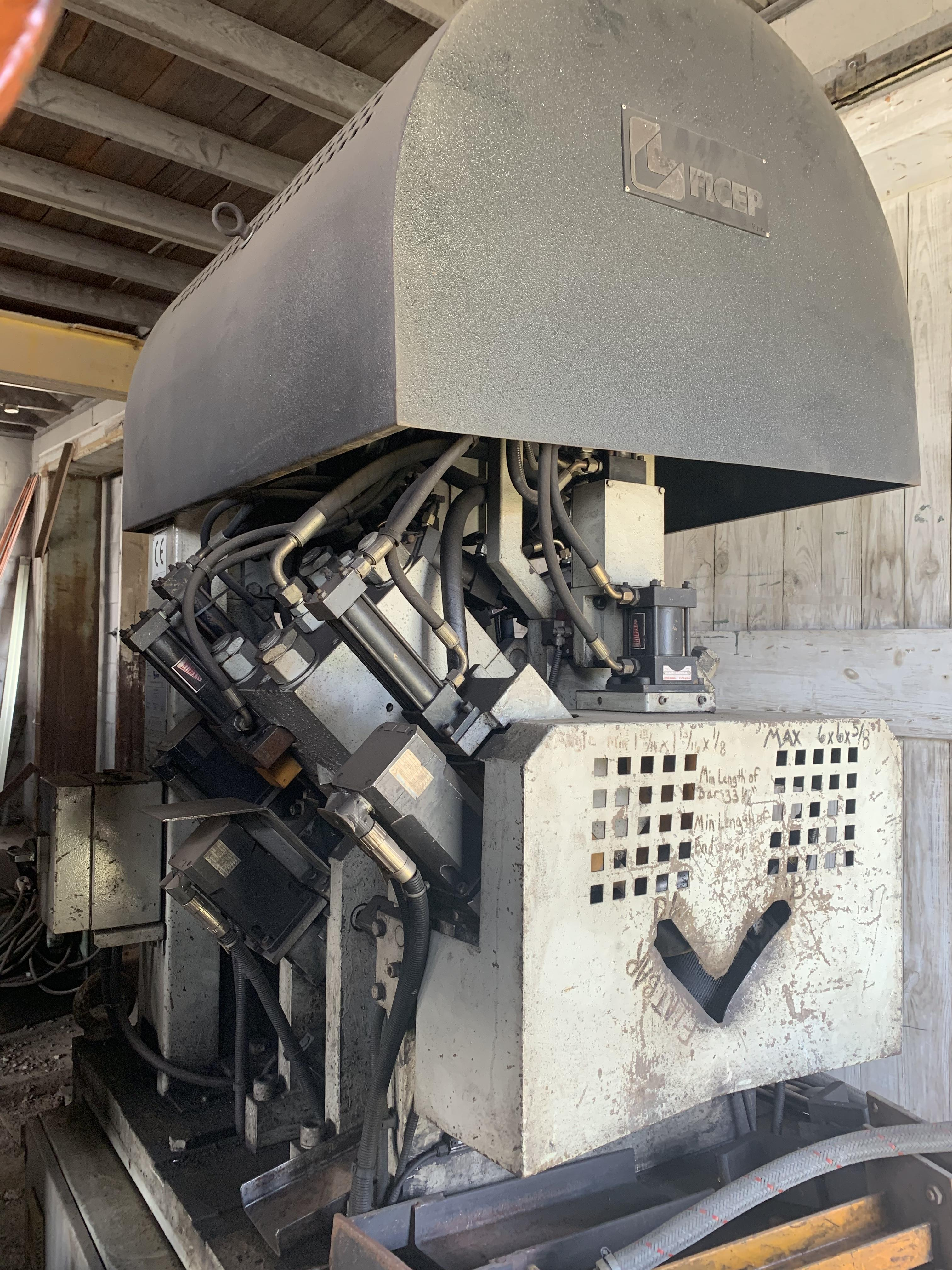"4"" X 4"" X 1/2"" FICEP MODEL A102 CNC PUNCHING & SHEARING ANGLE LINE: STOCK #10797"