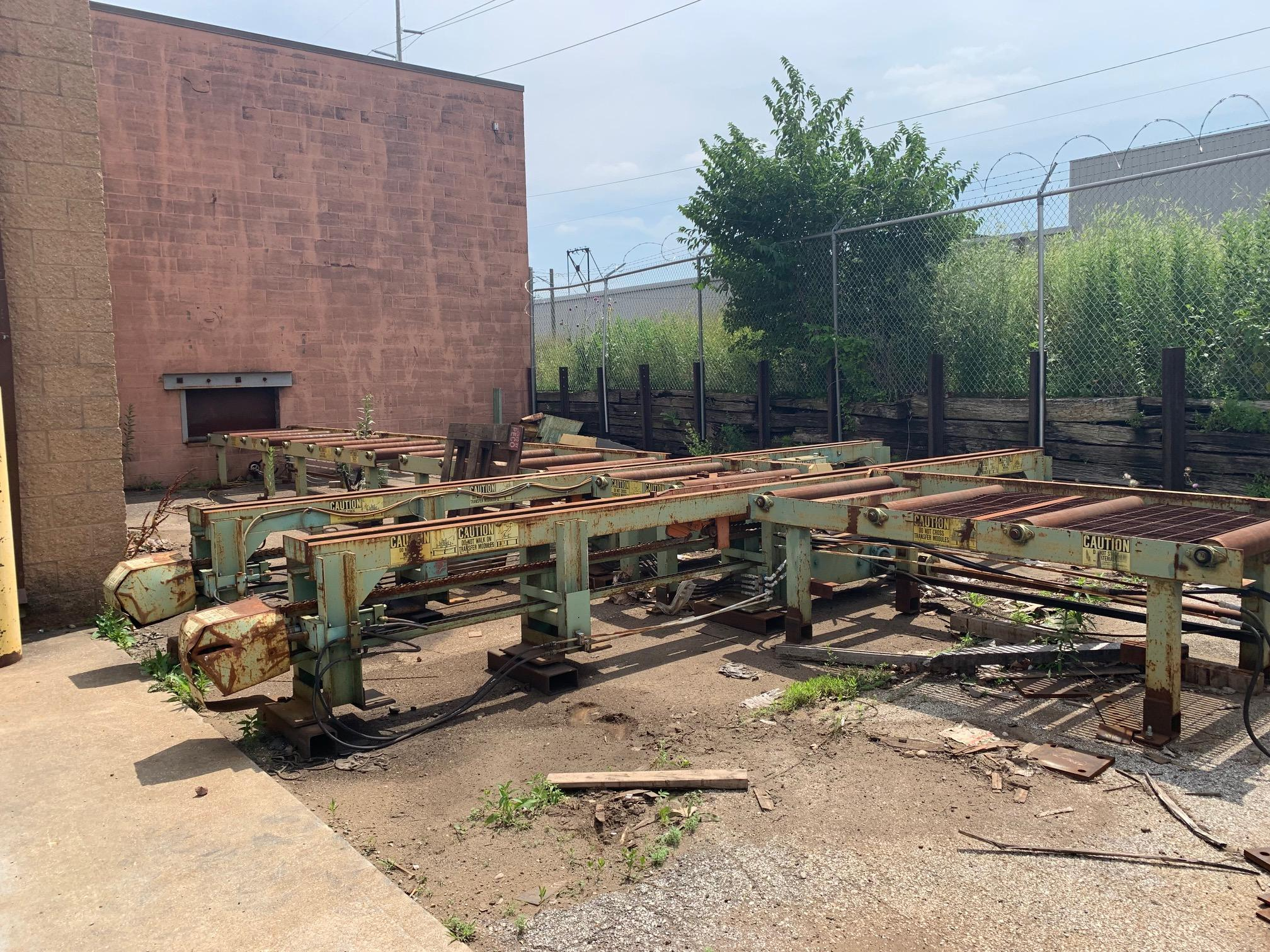 """15"""" X 40"""" PEDDINGHAUS FABRILINE 2000 CNC STRUCTURAL BEAM PUNCH SYSTEM WITH 60' ROLLER: STOCK 105"""