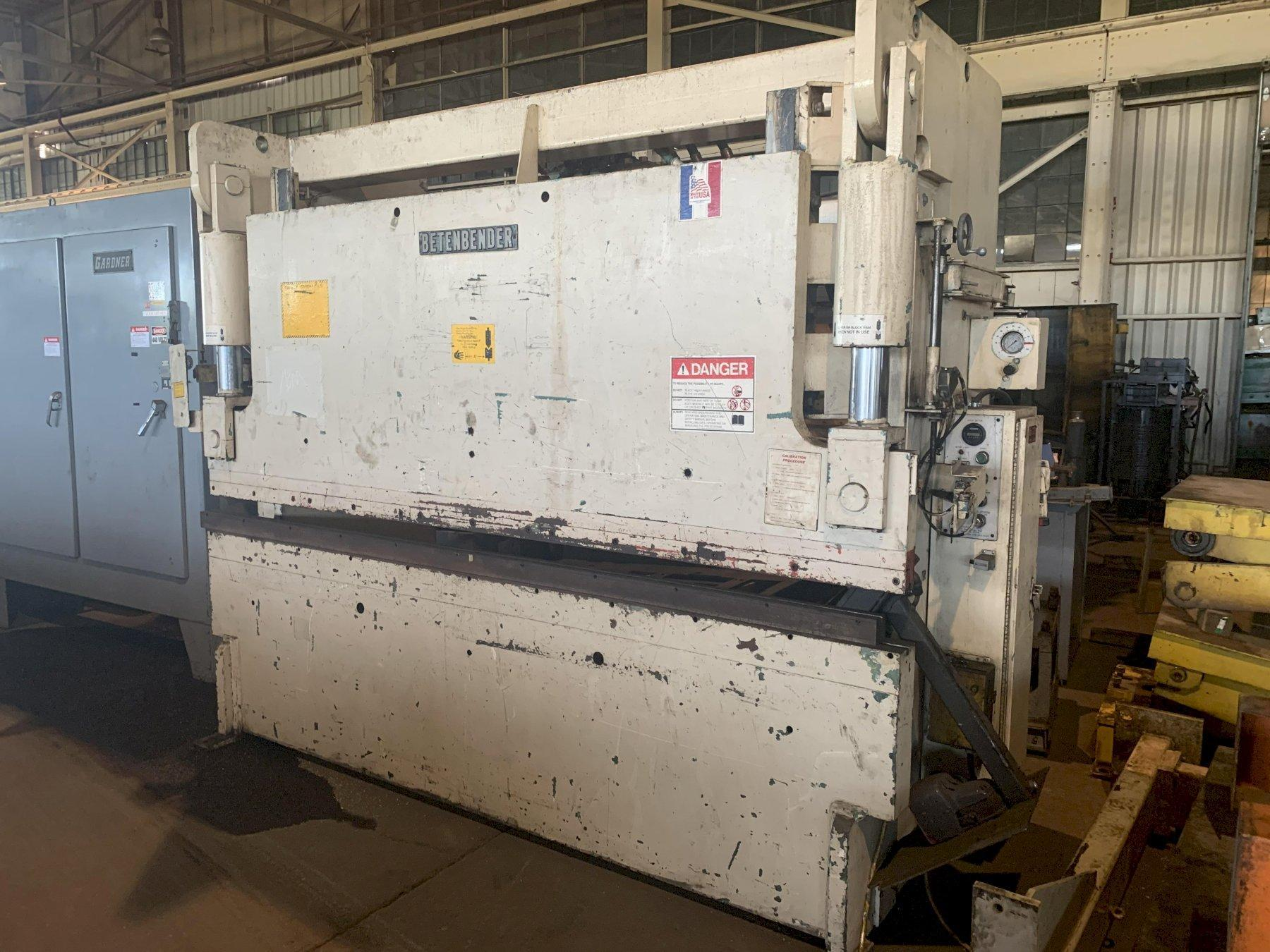 95 TON X 10' BETENBENDER MODEL #10-95T HYDRAULIC PRESS BRAKE: STOCK 10039