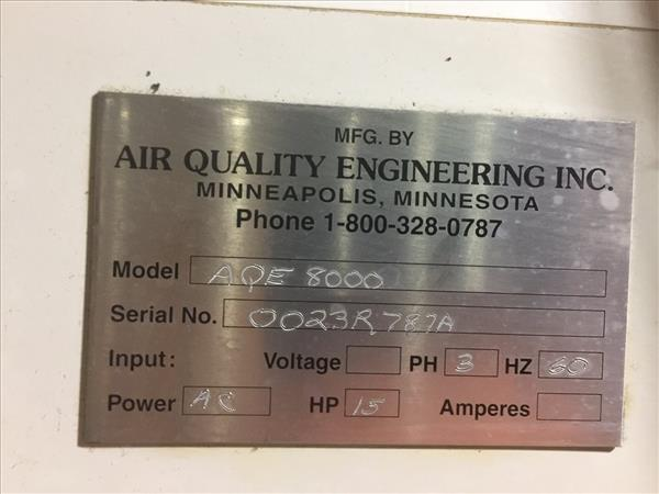 AIR QUALITY ENGINEERING AQE 8000 DUST COLLECTOR