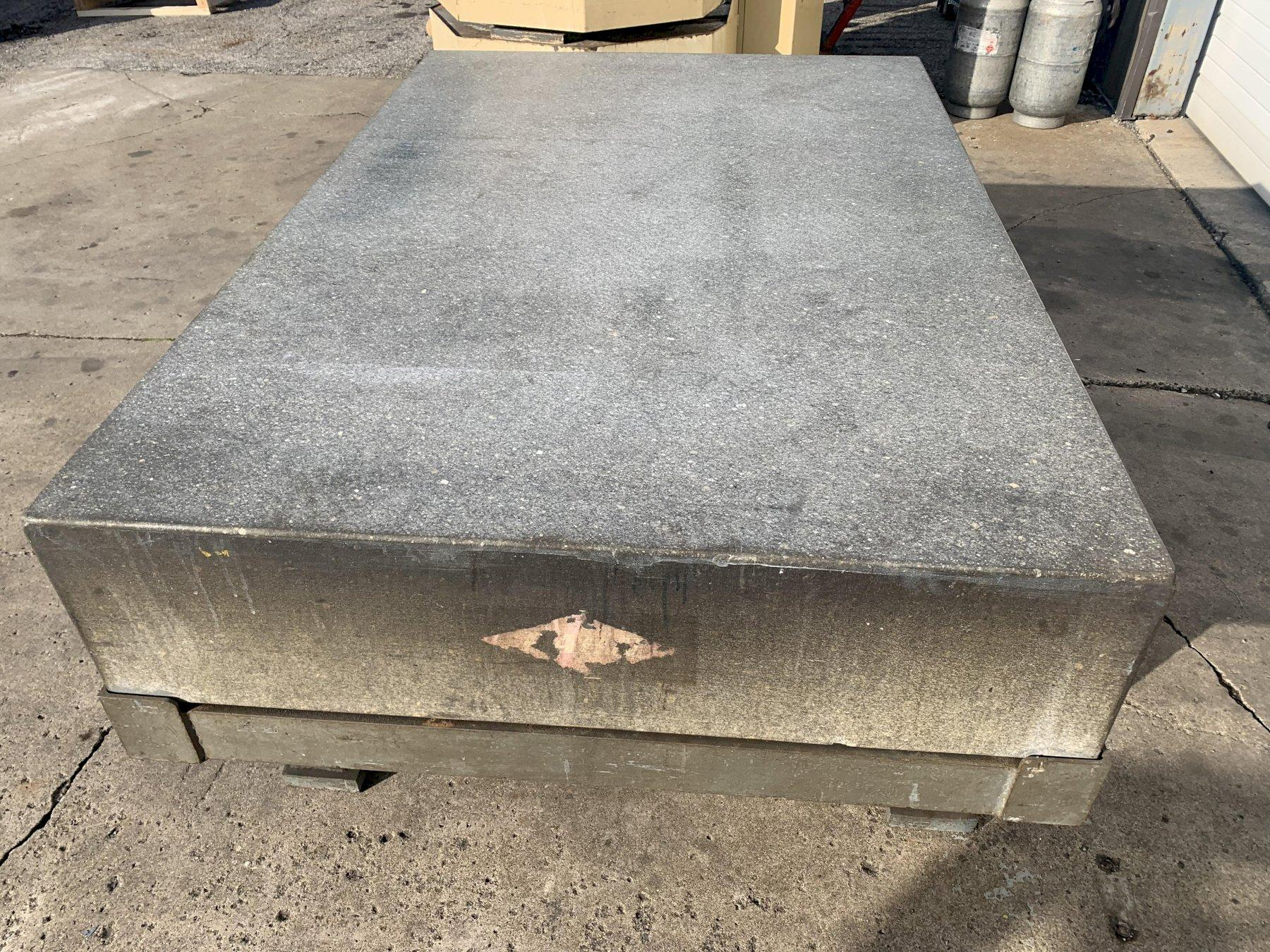 """72"""" X 48"""" X 18"""" THICK RAHN GRANITE PRECISION LAYOUT PLATE ON STAND: STOCK #11474"""