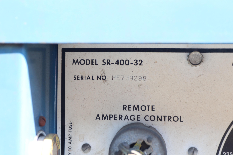 400 AMP MILLER MODEL SR-400-32 DIRECT CURRENTY WELDING POWER SOURCE WELDER: STOCK #10303