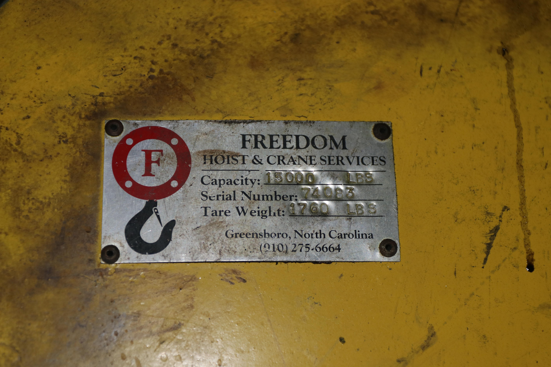 "15000 LB x 60"" FREEDOM HOIST COIL LIFTING C HOOK: STOCK 10414"