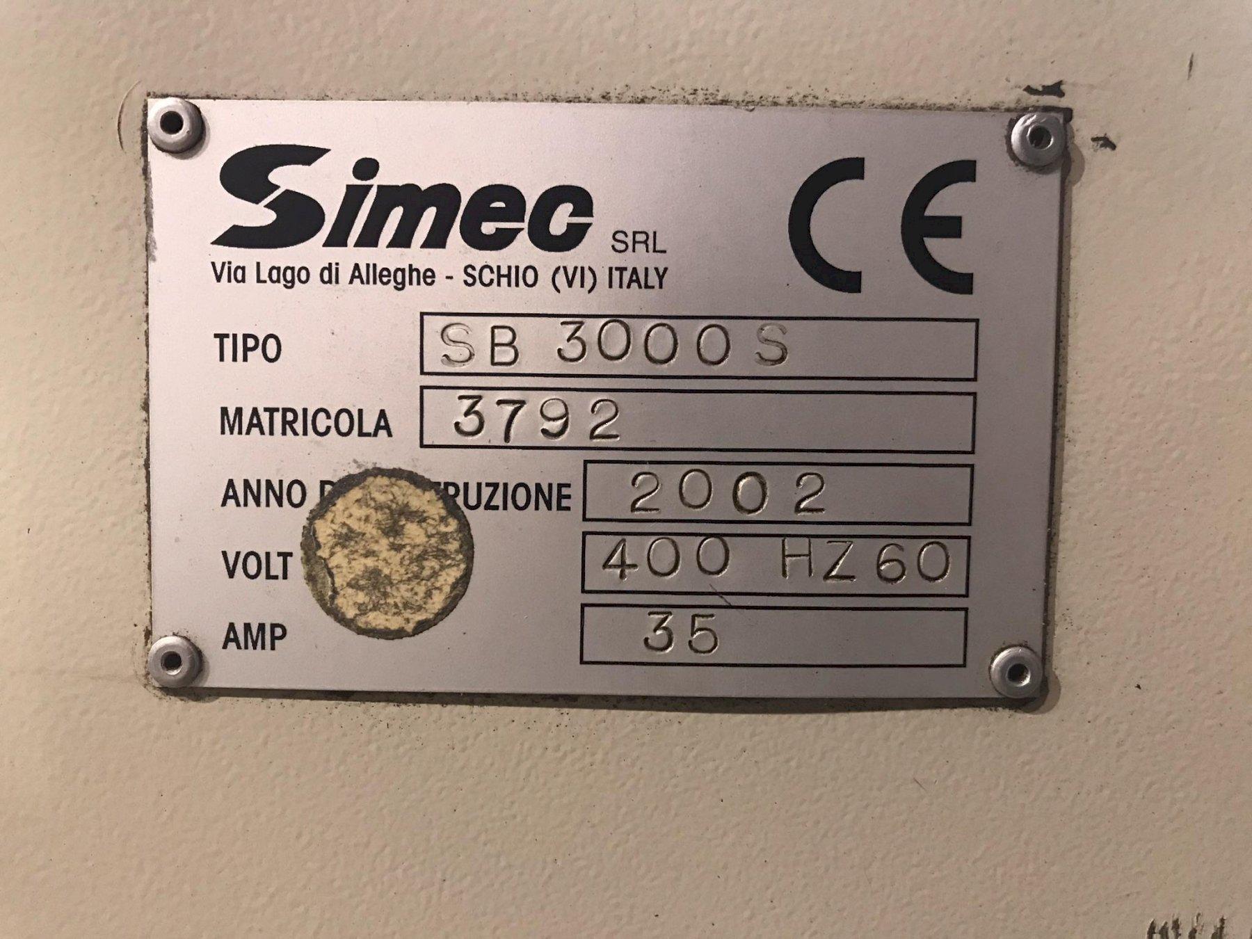 "USED SIMEC ADJUSTABLE LENGTH 4"" WIRE BRUSH DEBURRING MACHINE, MODEL SB3000S, Stock No. 10686, Ye"