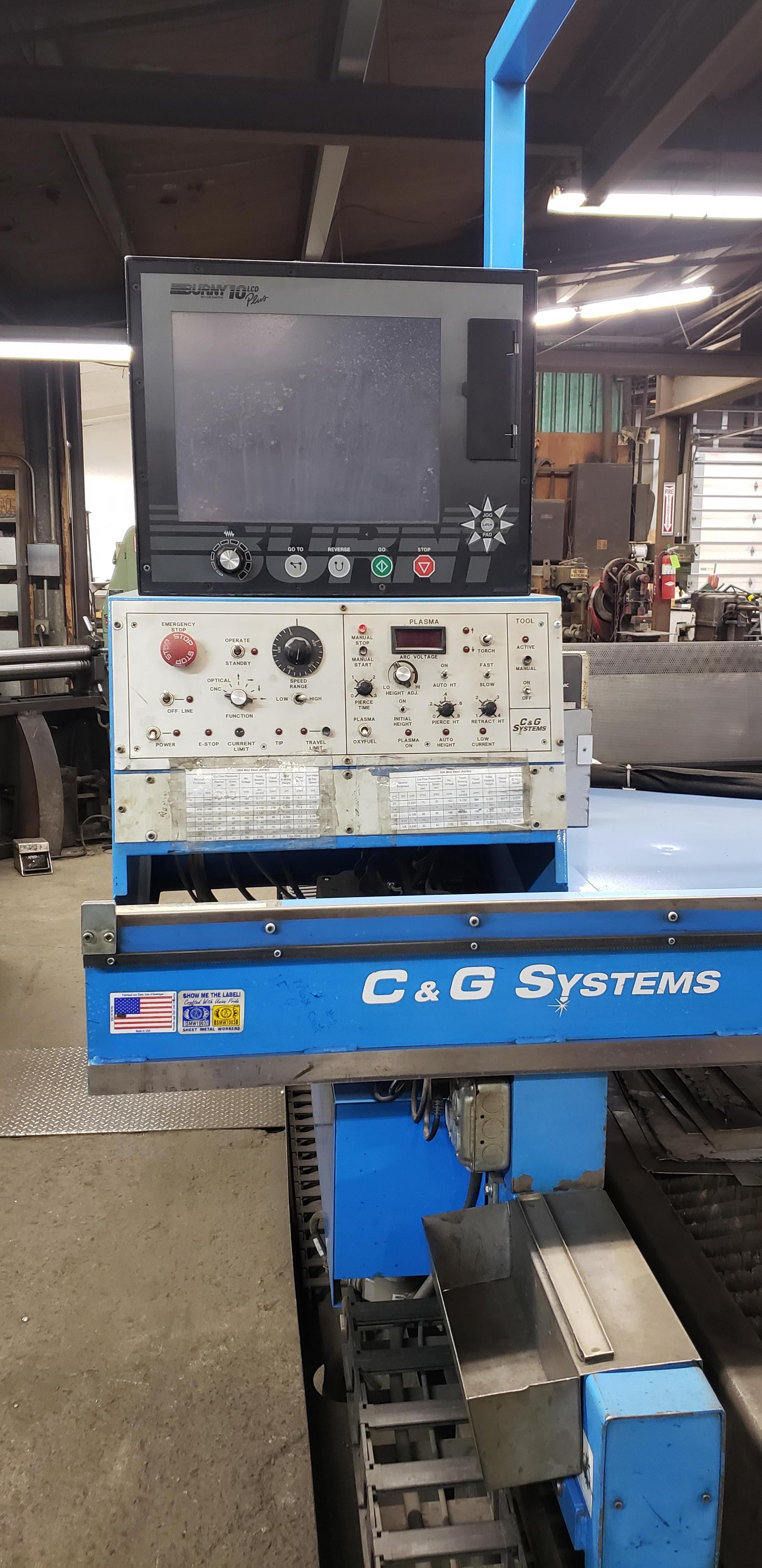 2008 C&G Industries 12' X 6' Challenger Plasma System (#3652)