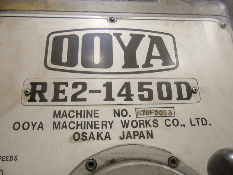 """5' x 13"""" Ooya Model RE1450D Radial Drill"""