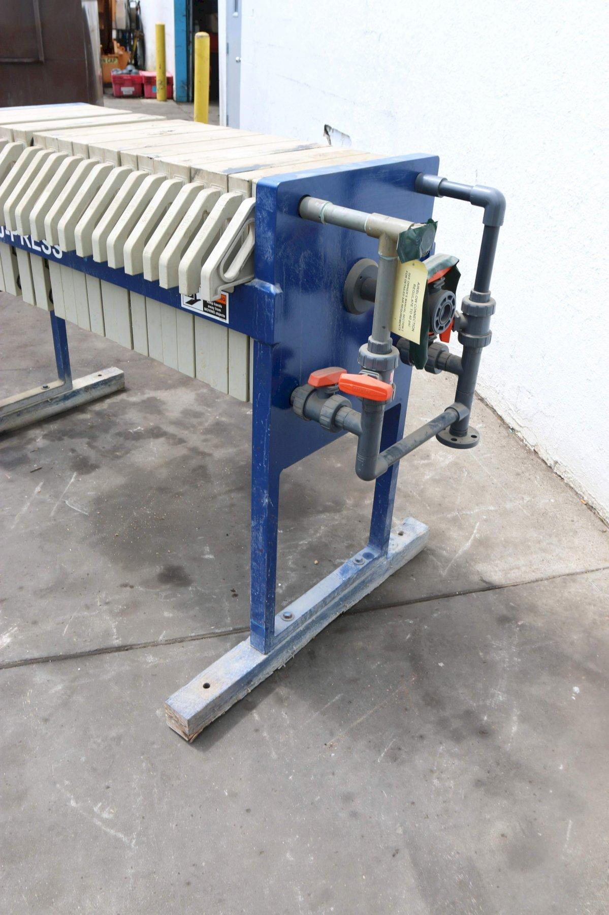 20 PLATE SIEMENS DEWATERING SYSTEMS FILTER PRESS: STOCK #70474