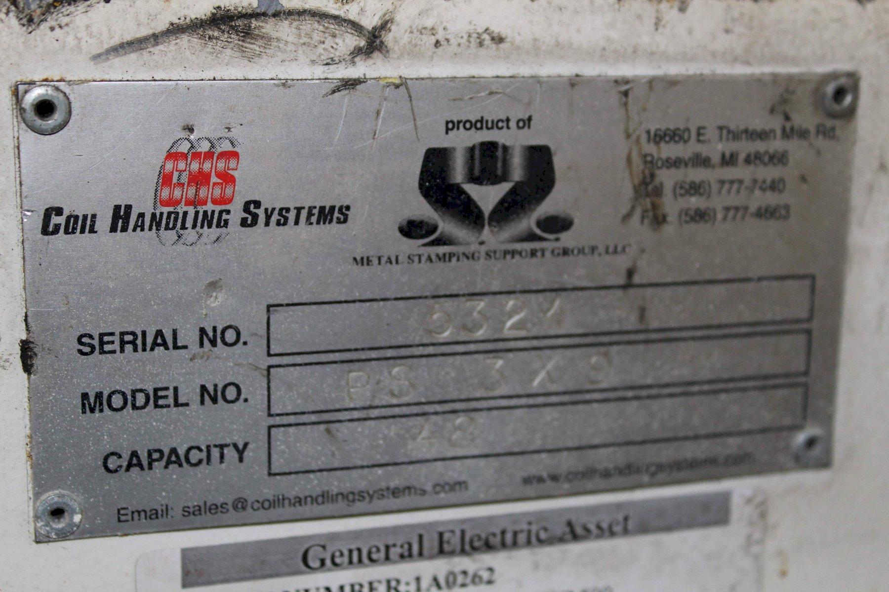 48' COIL HANDLING SYSTEMS STRAIGHTENER: STOCK #67553