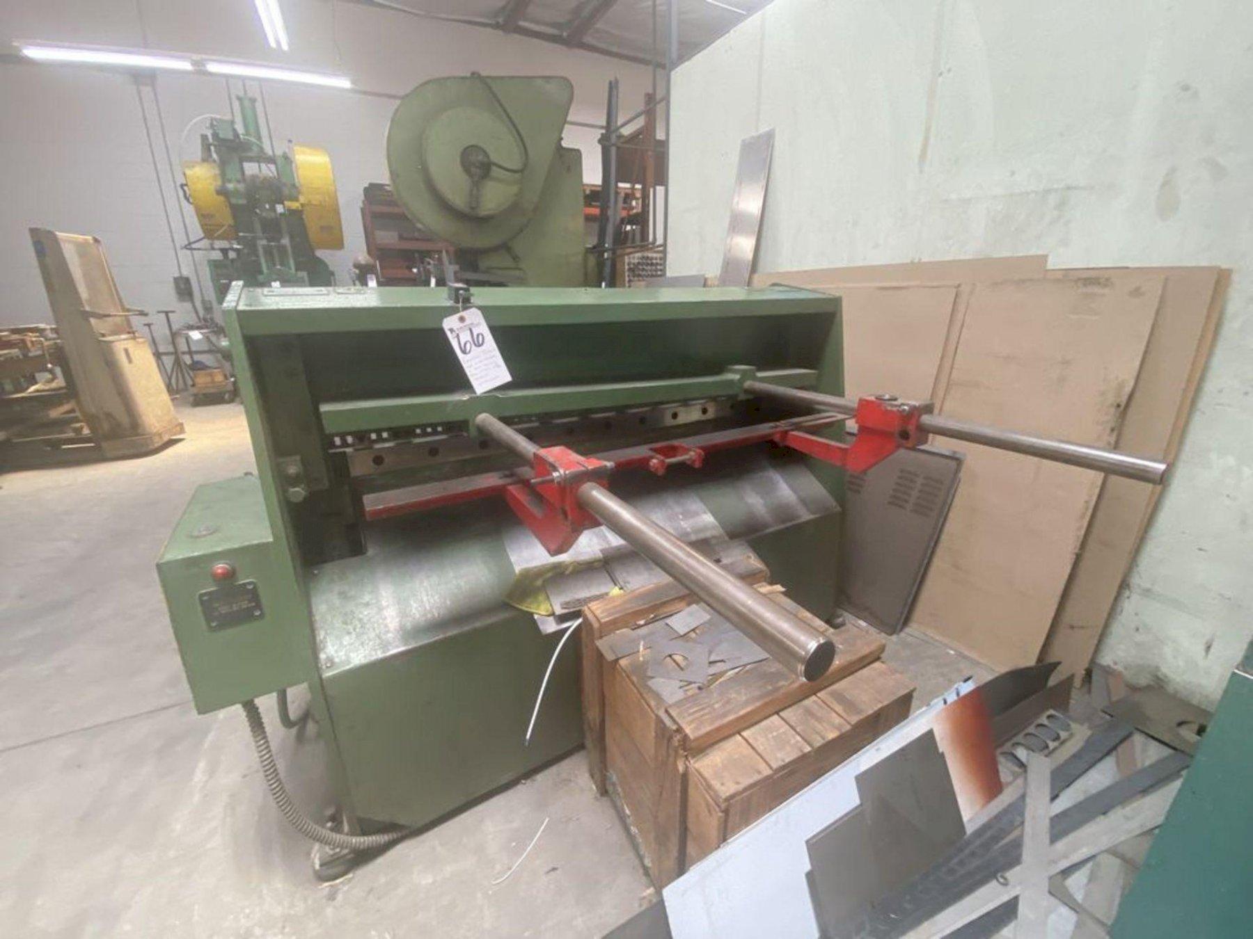 """Edwards Model 3.25/1250/DD Hydraulic Shear  10 Gauge 1/8"""" x 50"""" #5918"""