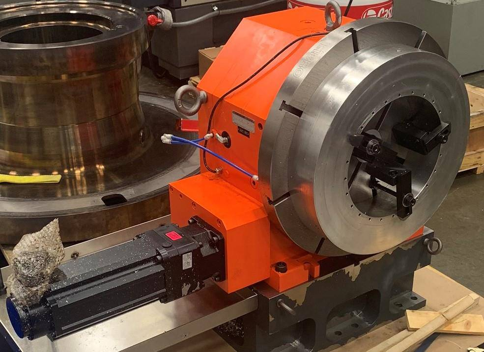 """Fidia 6-Axis Milling Machine, X-177"""", Y-137"""", Z-55"""", 15,000 RPM, Probe, 24"""" Rotary Table, 2016, #30596"""