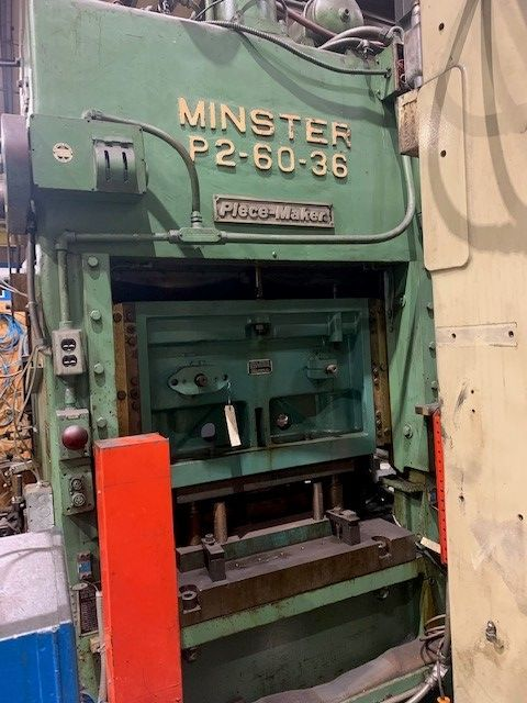"60 Ton Reconditioned Minster, S/N 14568, 2"" Stroke, 125-375 SPM, 3"" Slide Adjustment, 14.5"" Shut HT, Stk# 1249"