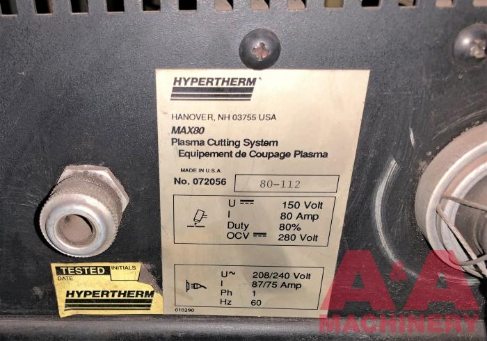 Hypertherm Max80 Plasma Cutting System