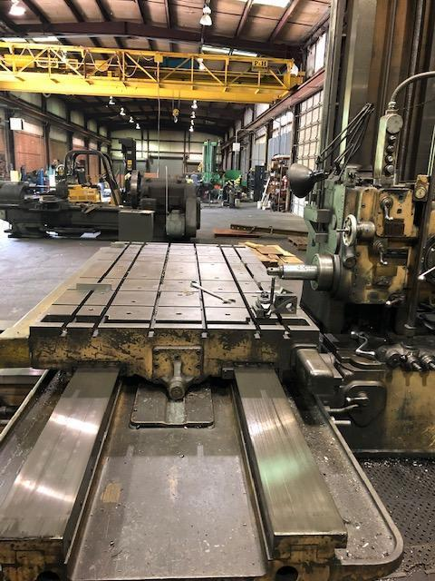 """4"""" GIDDINGS & LEWIS HORIZONTAL TABLE TYPE BORING MILL WITH 50 TAPER: STOCK 11544"""