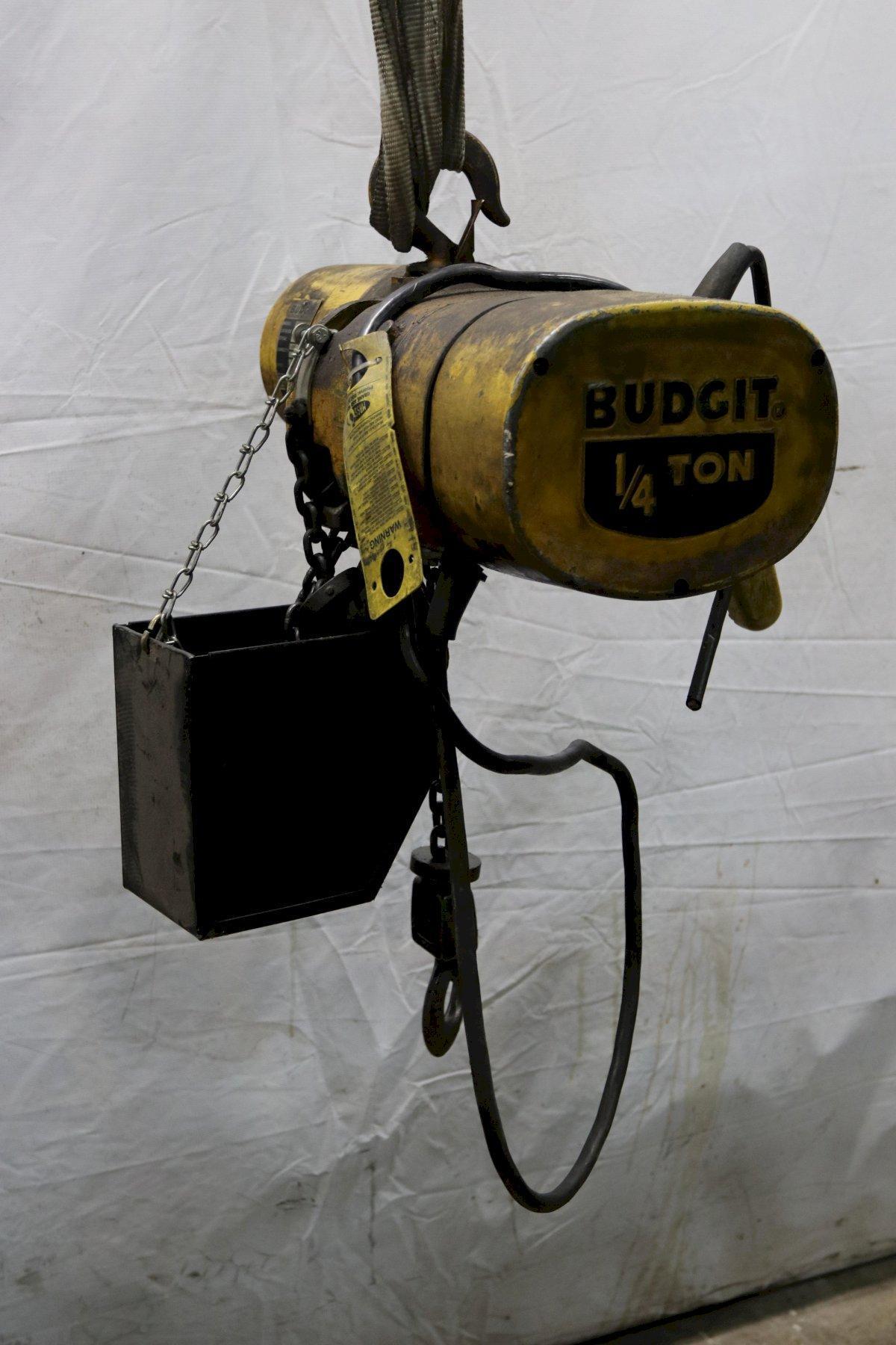 1/4 TON BUDGIT ELECTRIC CHAIN HOIST : STOCK #11989