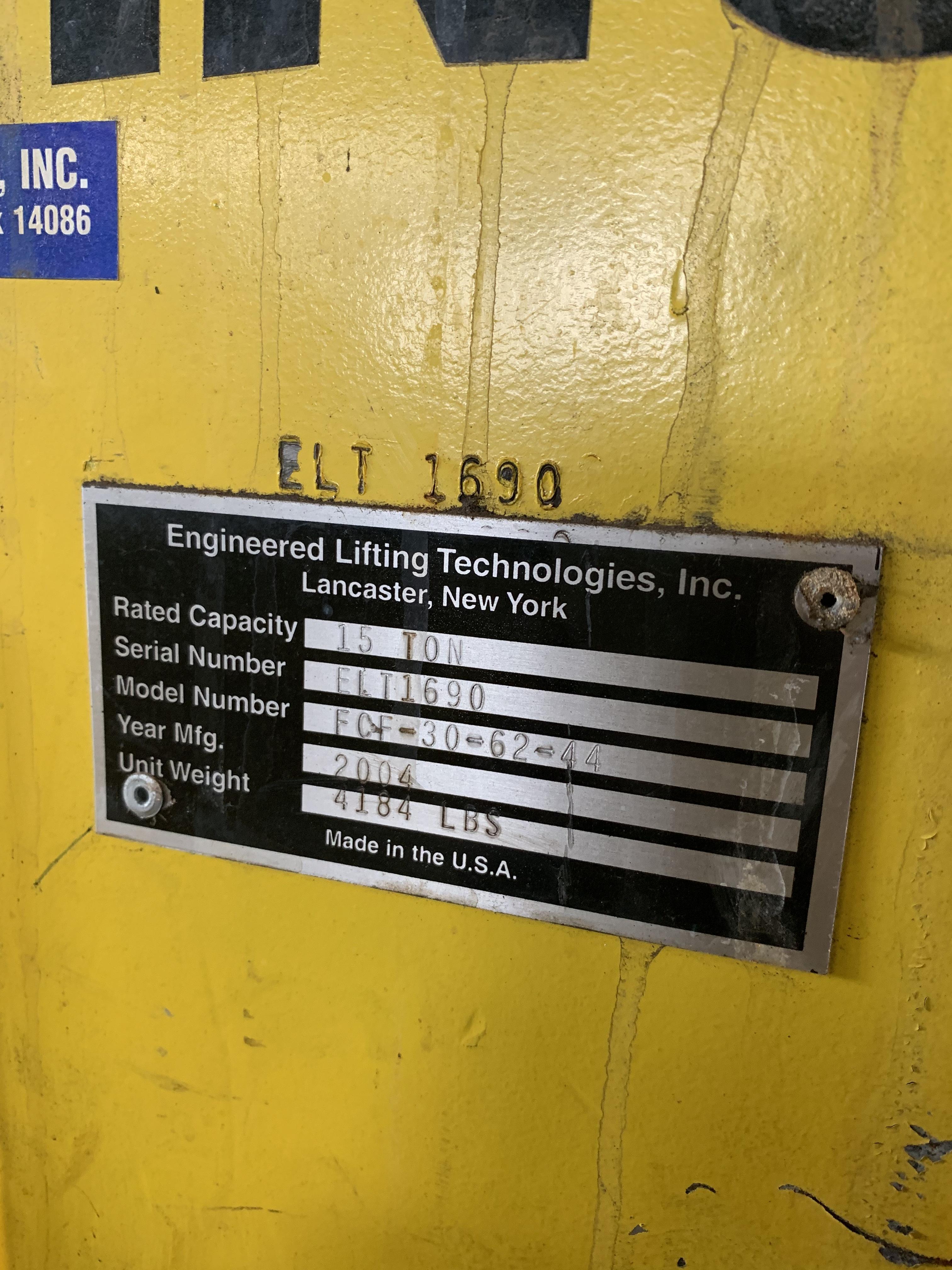 "30,000 LBS X 48"" ENGINEERED LIFTING TECHNOLOGIES SKID PALLET LIFTER: STOCK #10602"