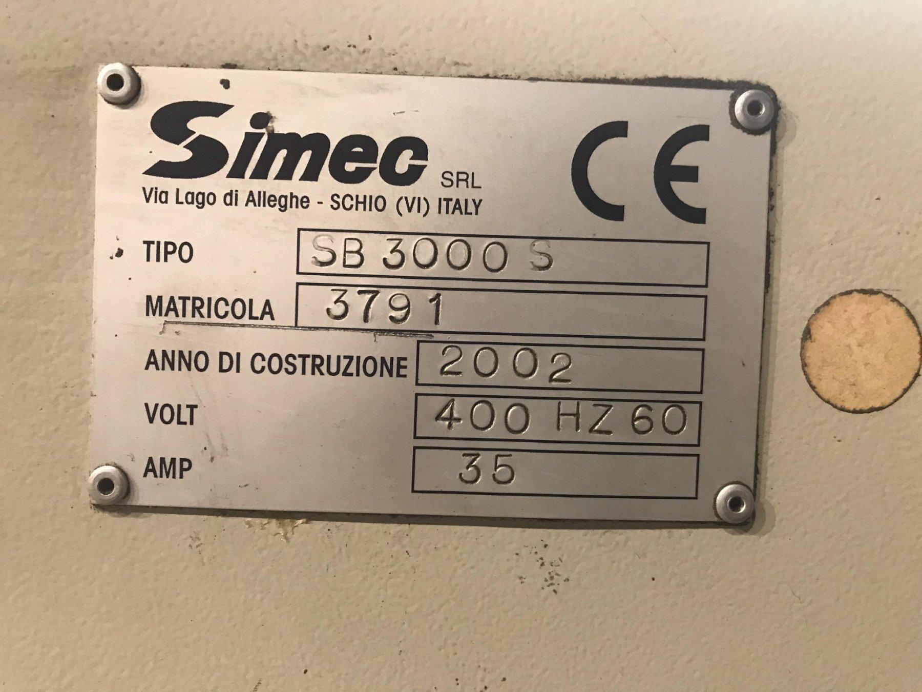 "USED SIMEC ADJUSTABLE LENGTH 4"" WIRE BRUSH DEBURRING MACHINE, MODEL SB3000S, Stock No. 10685, Ye"