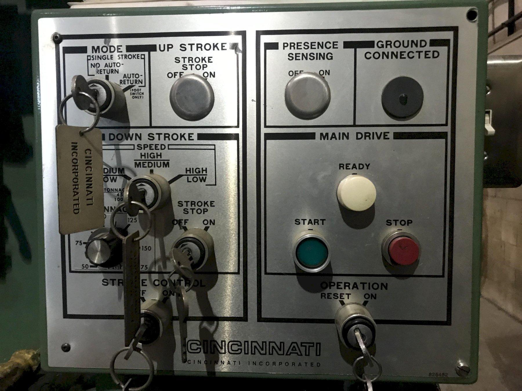 USED CINCINNATI MODEL 175CB-12 175 TON X 14' HYDRAULIC CNC PRESS BRAKE, YEAR 1994, STK# 10664
