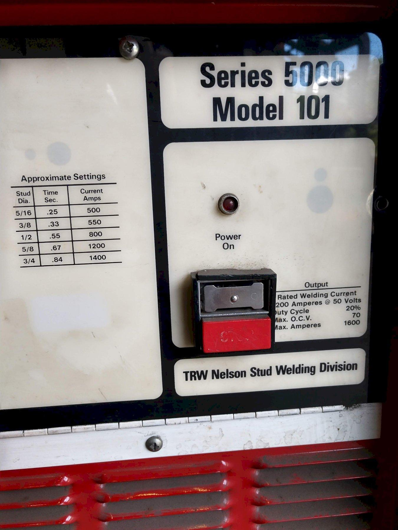 NELSON / TRW SERIES 5000 MODEL 101 STUD WELDER WITH GUN: STOCK #13015