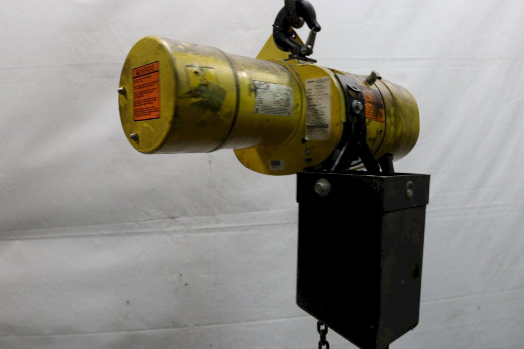 500 LB BUDGIT MODEL #BEHC2516 ELECTRIC POWERED CHAIN HOIST:   STOCK #11986
