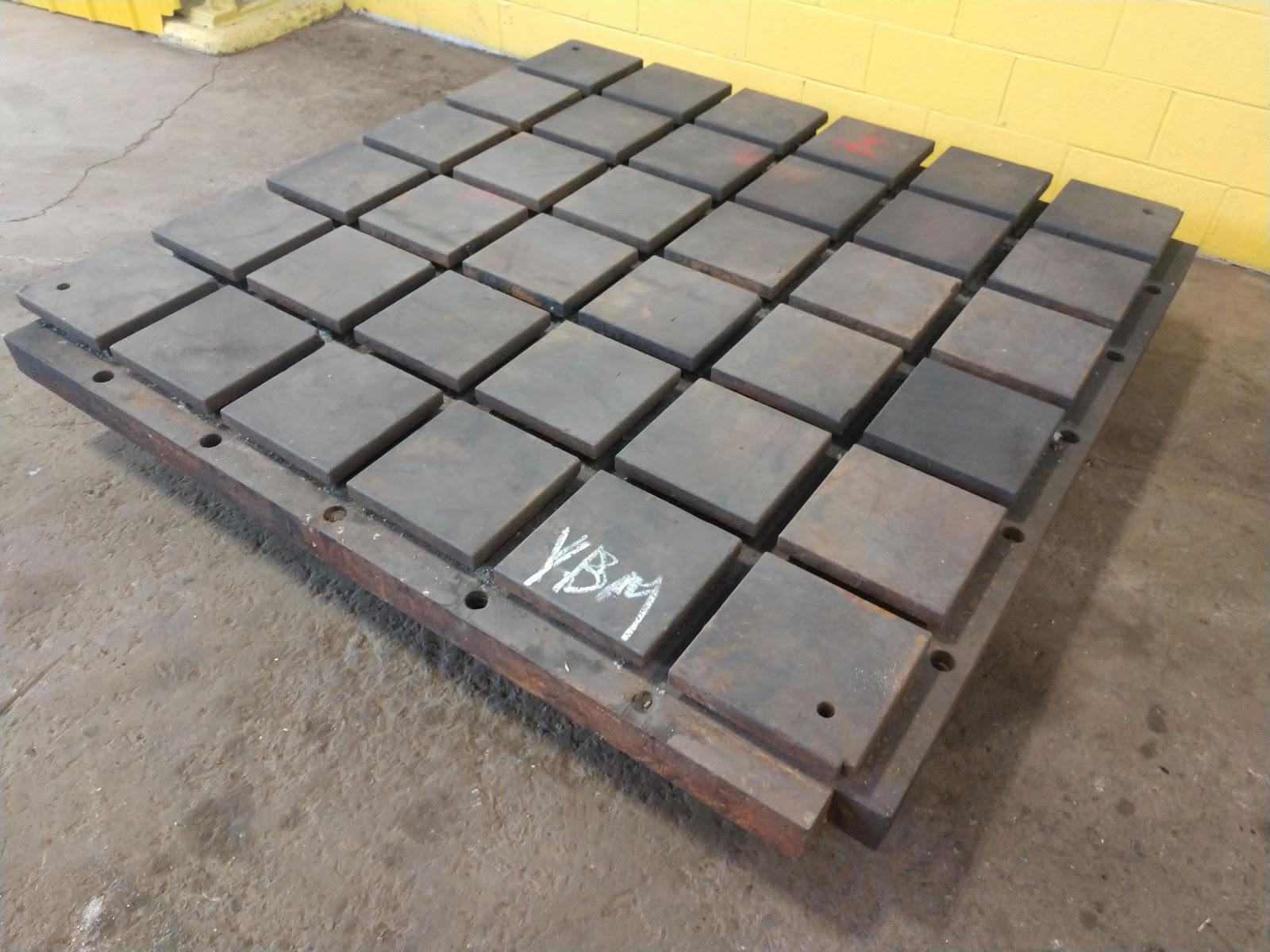 """72"""" X 72"""" X 9"""" T-SLOTTED LAYOUT FLOOR PLATE: STOCK #11216"""
