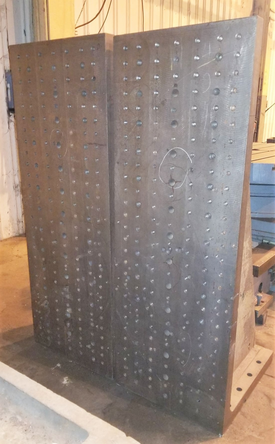 "72"" H  x 26"" W x 30"" Drilled & Tapped Angle Plates, #31109"