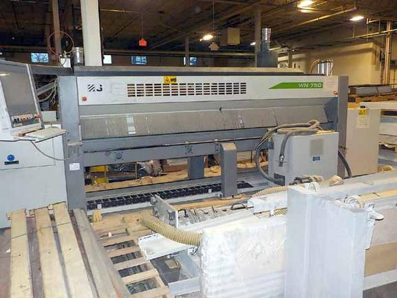 Selco #WN750, 3800mm Cut Length, 3200mm Pusher Storke, 25 HP, 3 HP Scoring, Selco CNC, Load/Unload Tables, 2008