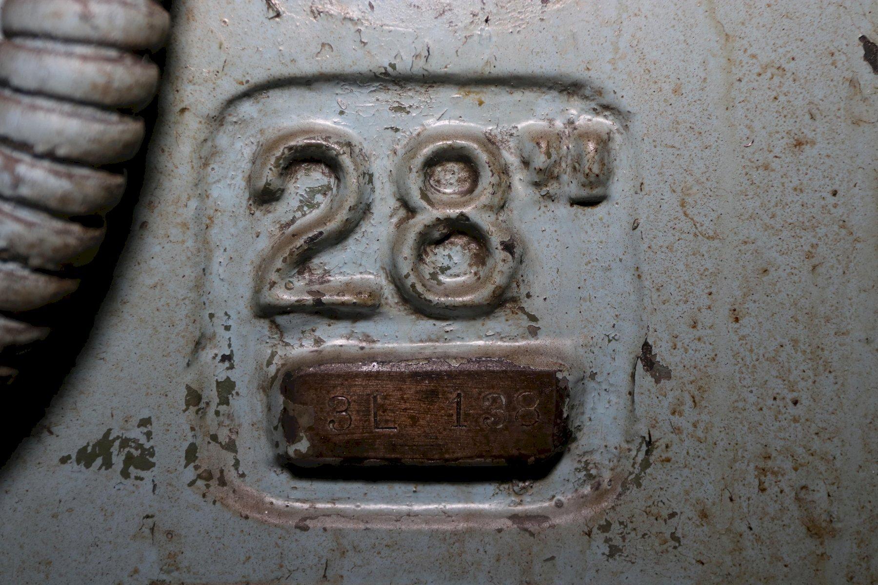 "28"" CINCINNATI BICKFORD MODEL #28 SINGLE SPINDLE DRILL: STOCK #12081"