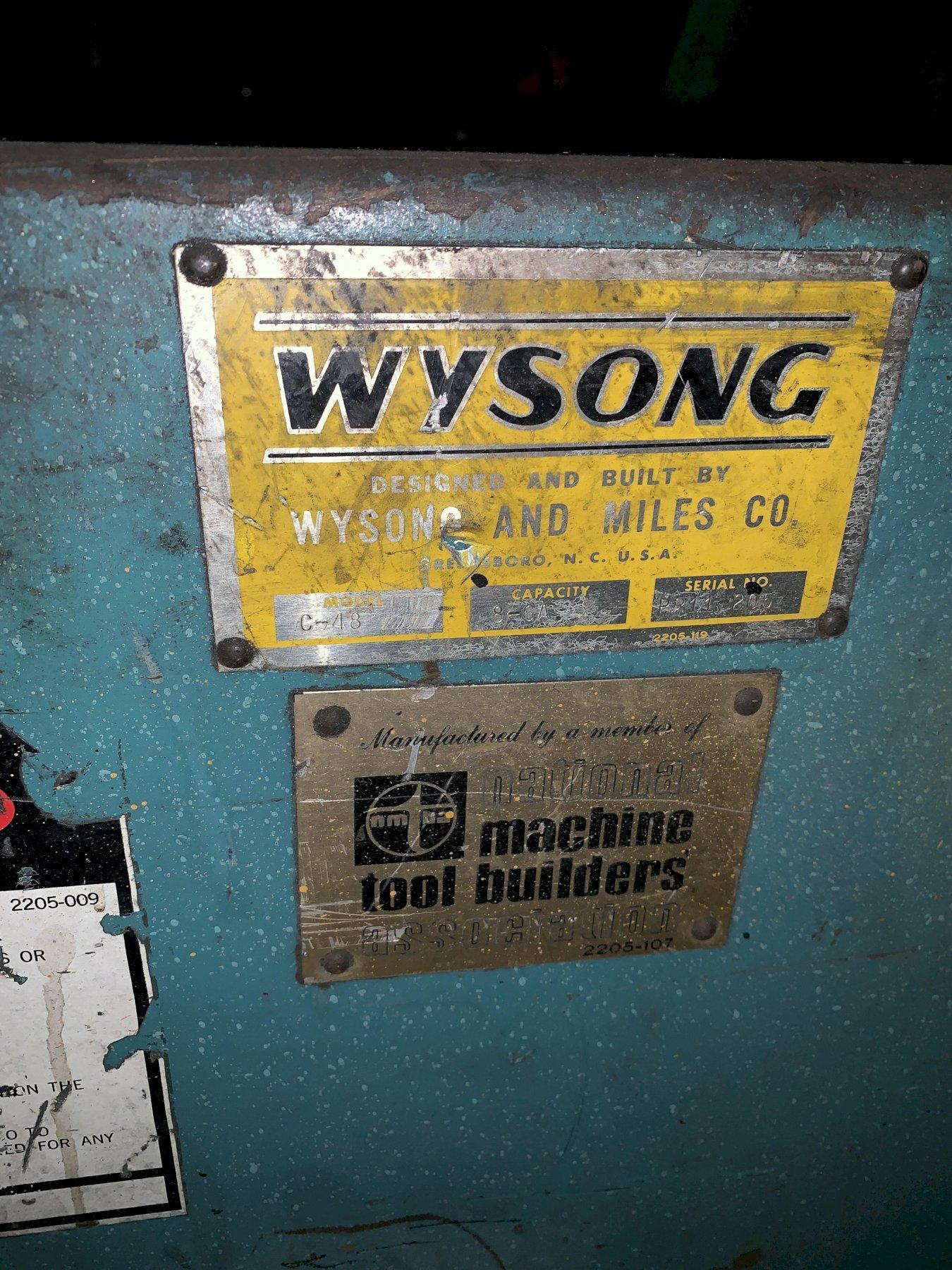 "8 GA X 48""  WYSONG MODEL #C-48 POWER PLATE ROLL: STOCK #10114"
