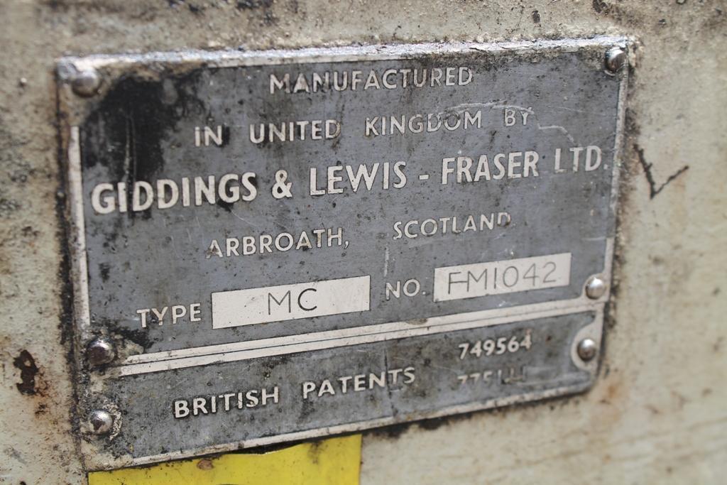 124' GIDDINGS & LEWIS MILLING & FACING CENTERING MACHINE STOCK #64194