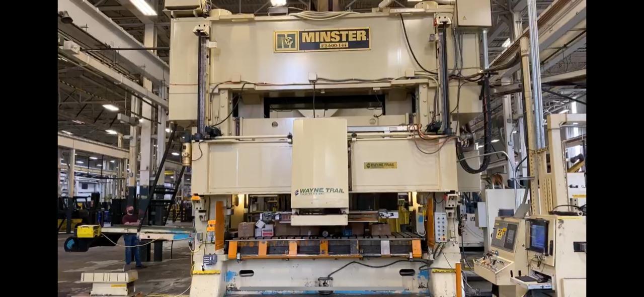 600 ton Minster E2-600-144-60 Hevi-stamper, New 2004