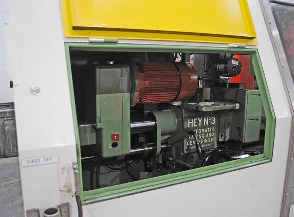 """8"""" X 27"""" Hey No. 3 CNC Face & Center, Full Machine Enclosure, A/B Ctrl, Chip Conveyor, 1999"""