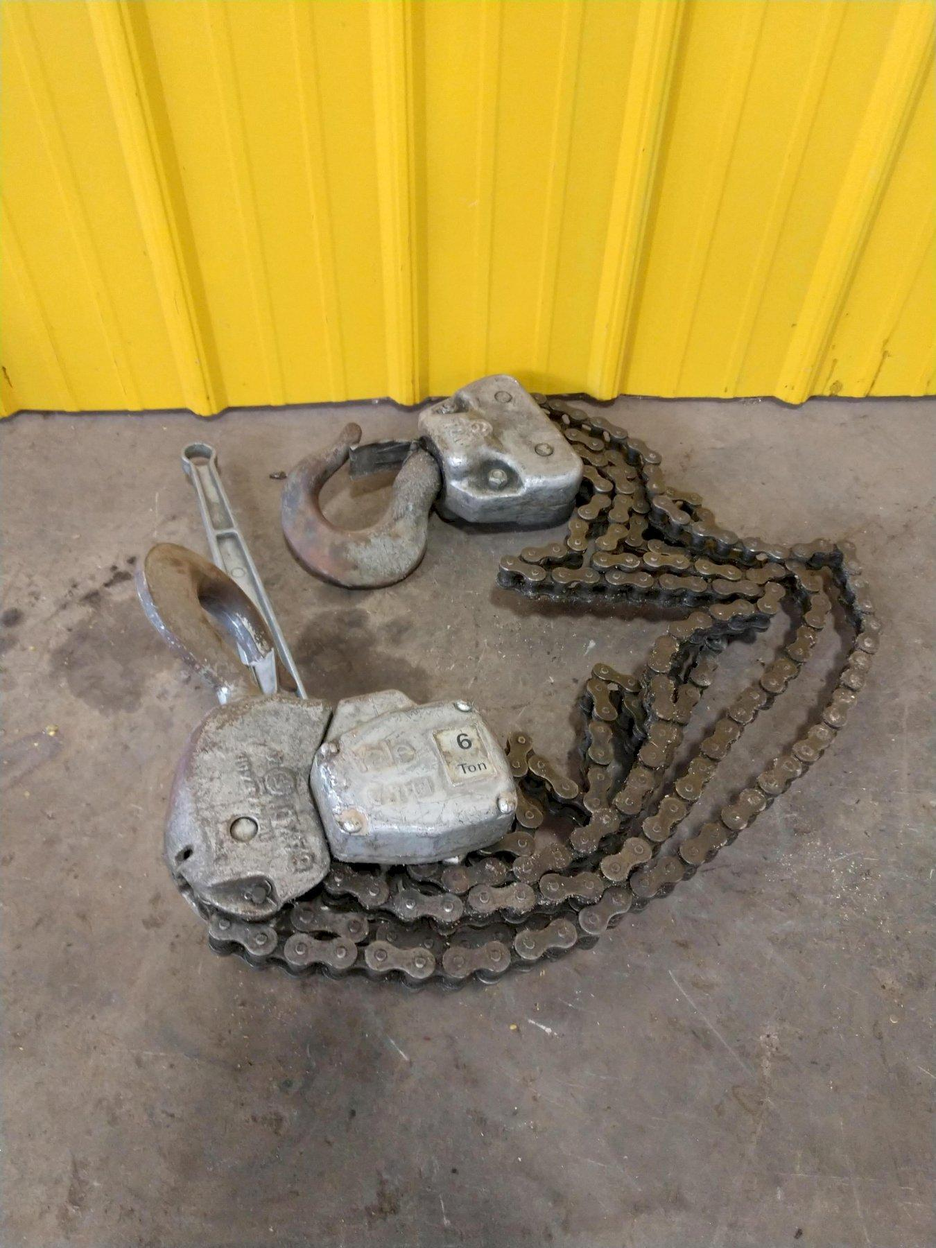 6 TON YALE CHAIN COME A LONG: STOCK 13887