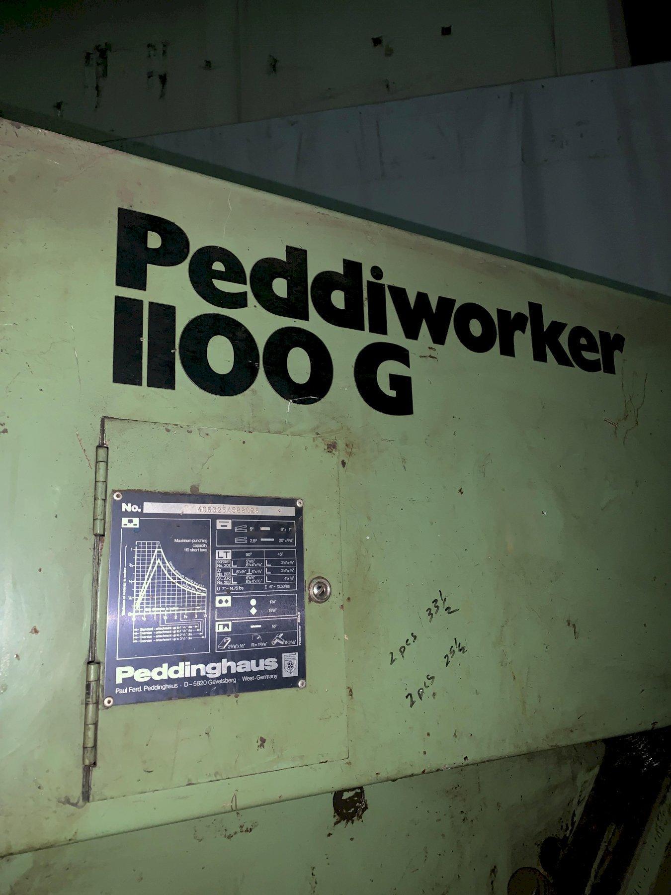 "110 TON PEDDINGHAUS ""PEDDIWORKER"" 1100G HYDRAULIC IRONWORKER: STOCK #11811"