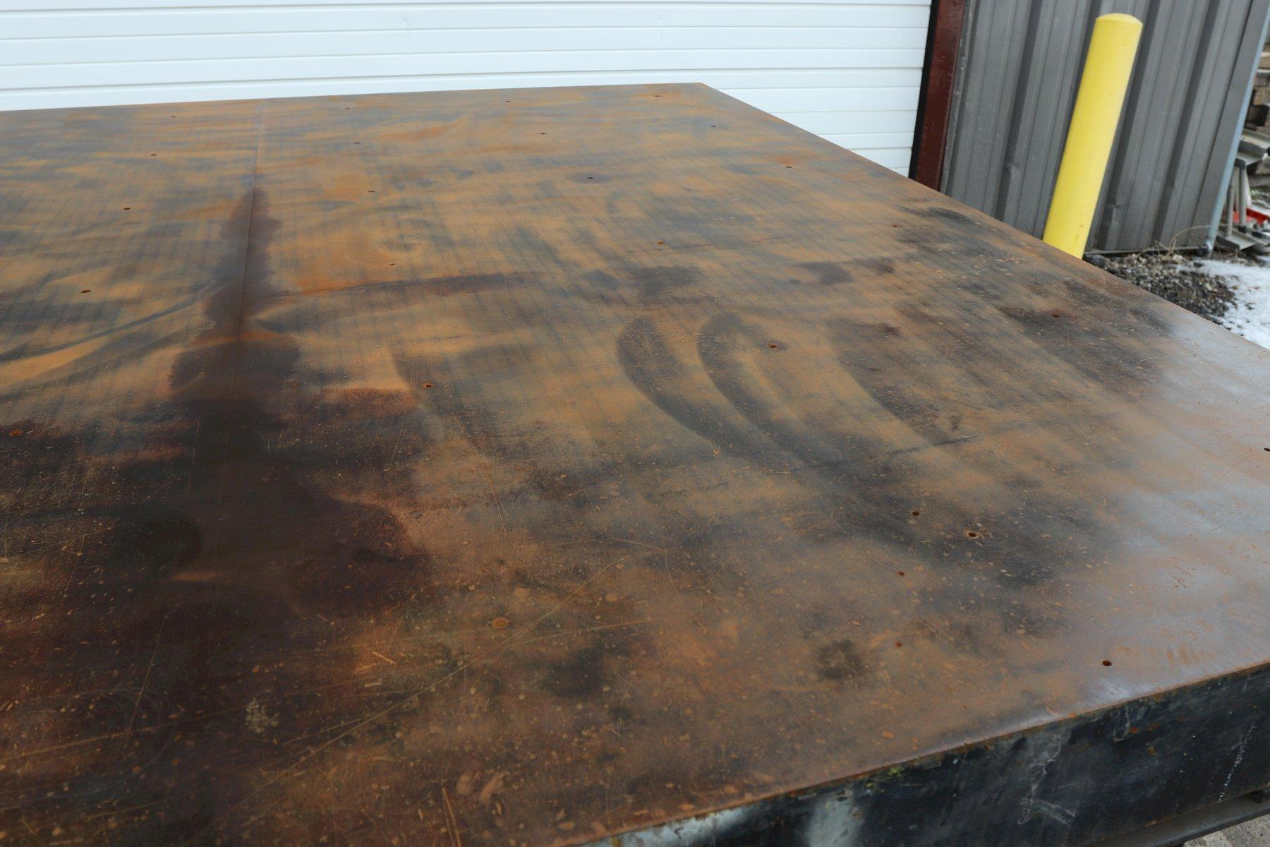 "96"" X 96"" STEEL TABLE: STOCK #11026"