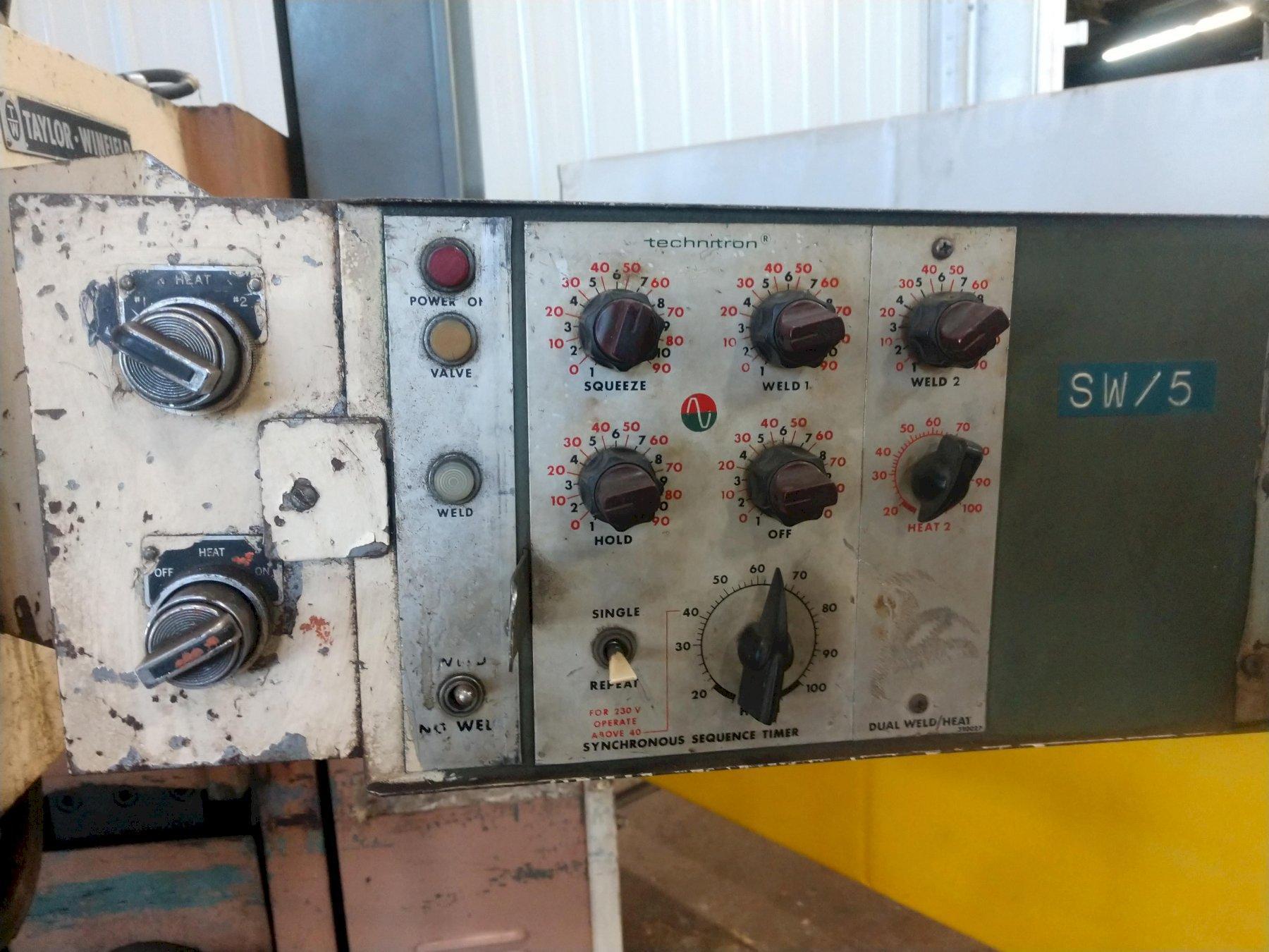 75 KVA TAYLOR WINFIELD ENC-24-75 AIR OPEN SPOT WELDER: STOCK #11148