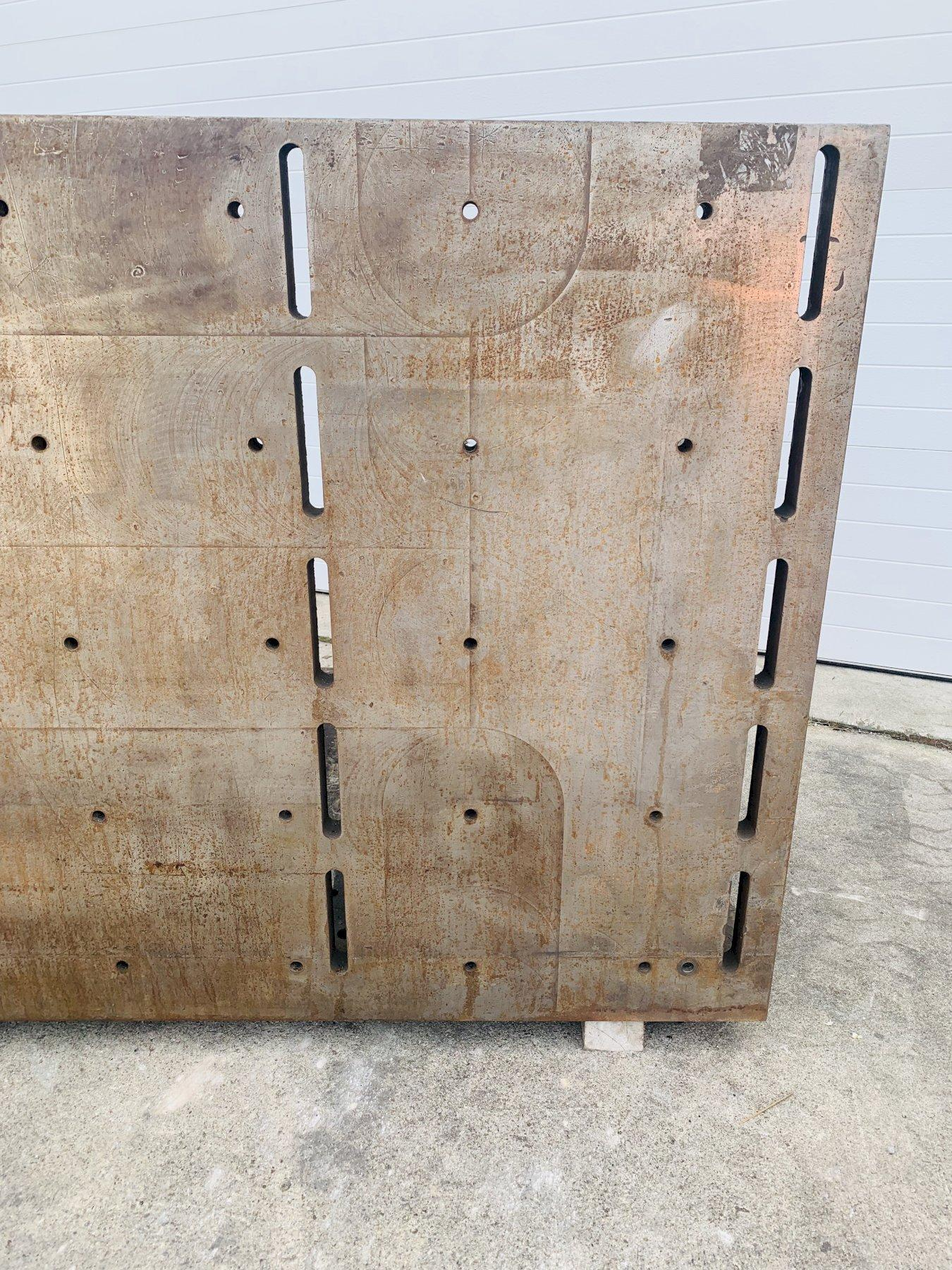 """95"""" X 48"""" X 48"""" 2 SIDED (SLOTTED & DRILLED/TAPPED) HEAVY DUTY ANGLE PLATE: STOCK #11097"""