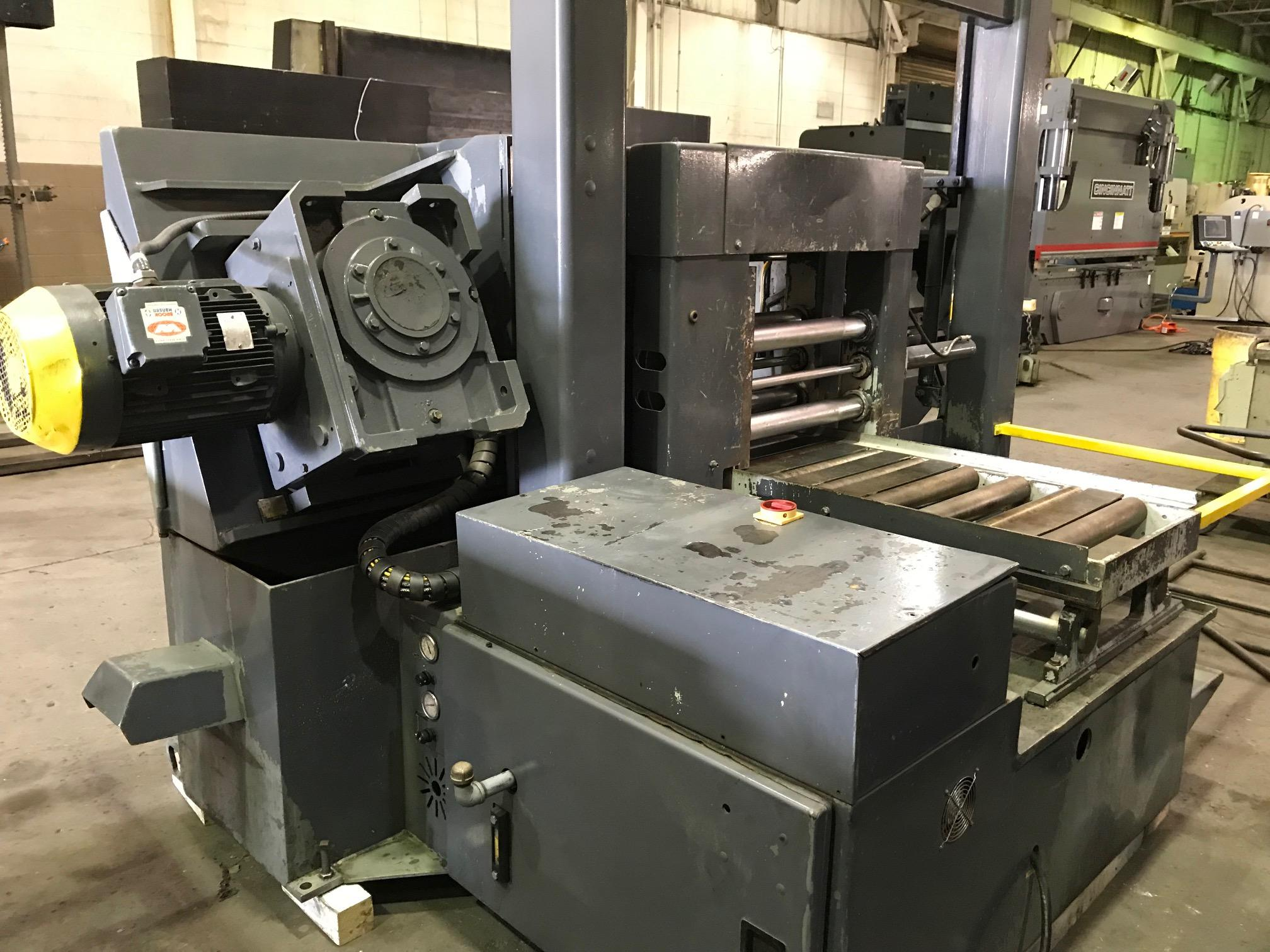 """USED HYD-MECH AUTOMATIC HORIZONTAL BANDSAW MODEL H-22A 22"""" X 22"""", STOCK# 10630, YEAR 2001"""