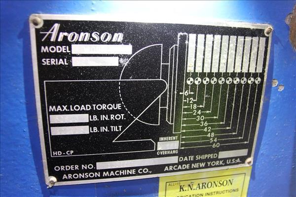 KOIKE ARONSON MD3000 6,600 LBS. POWERED TILT WELDING POSITIONER