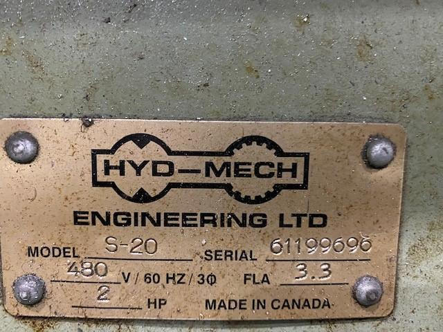 """USED HYD-MECH MODEL S-20 MANUAL MITERING 13"""" X 18"""" BANDSAW, Year 1999, Stock# 10836"""