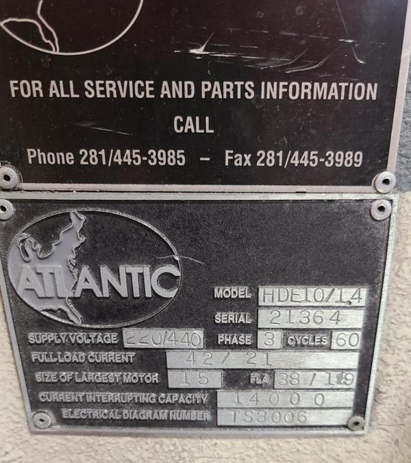 HACO ATLANTIC HYDRAULIC GUILLOTINE SHEAR