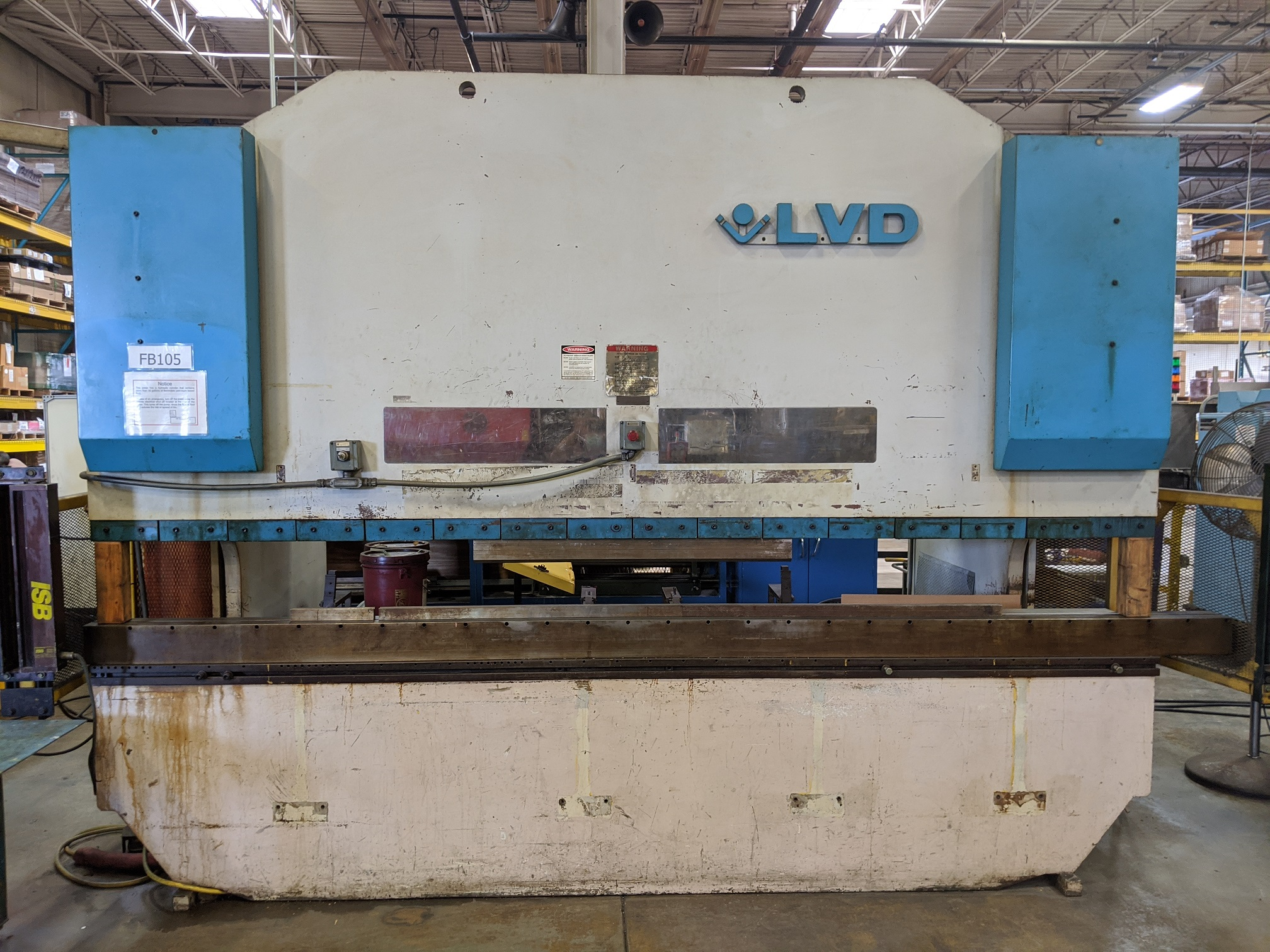240 Ton x 14' Hydraulic Press Brake.  1992 LVD W/ NC Control, BAck Gauge, No pit needed, and Light Curtains