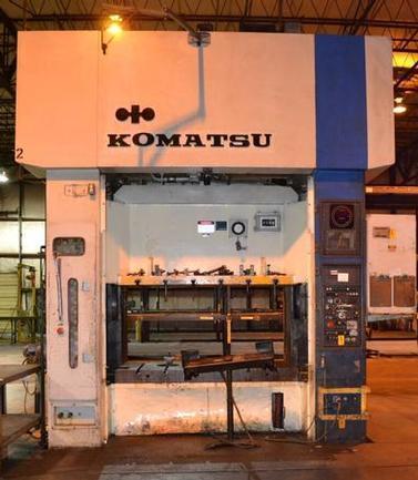 220 Ton Komatsu Eccentric Gear 2-Pt SS Press, Stock #13405J