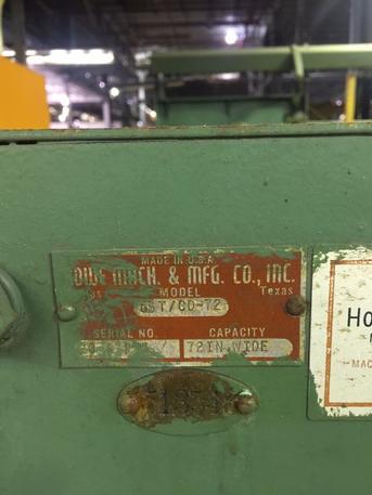 "60"" X .065"" Rowe 40,000 Lb. CTL Line, Stock #13685J"