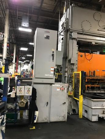 300 Ton Verson S2-300-120-54-T-PR Straight Side Press, Stock #13805J