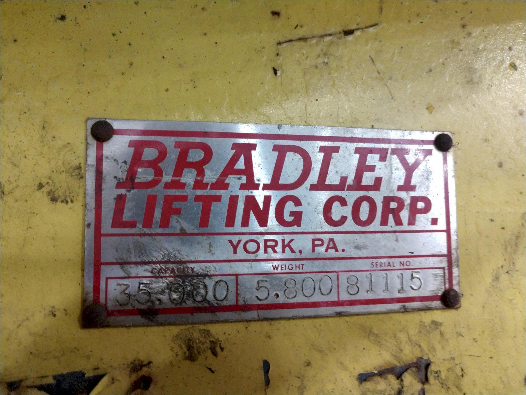 "35,000 LB X 34"" TO 76"" X 60"" OD BRADLEY CRANE MOTORIZED COIL GRAB: STOCK 13246"