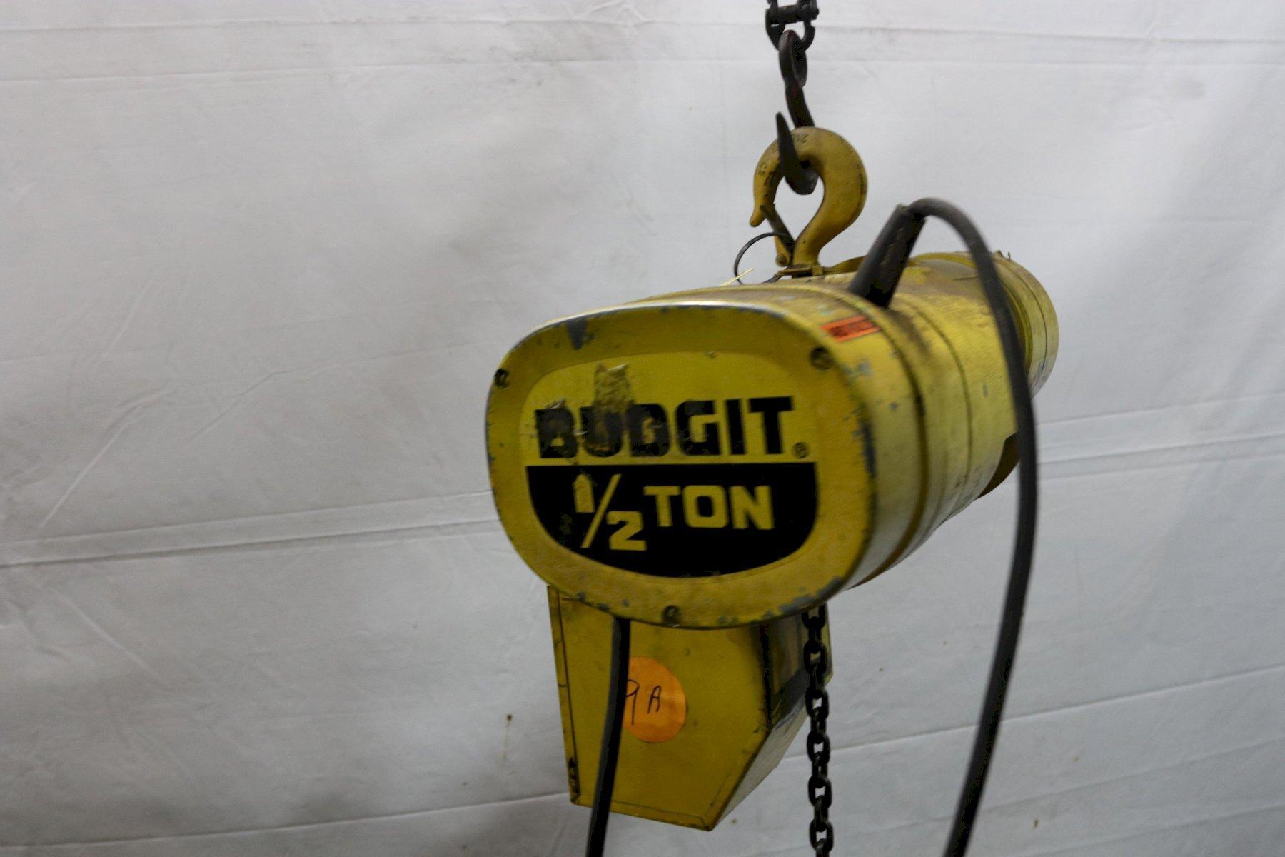 1/2 TON BUDGIT POWER CHAIN HOIST : STOCK #11991