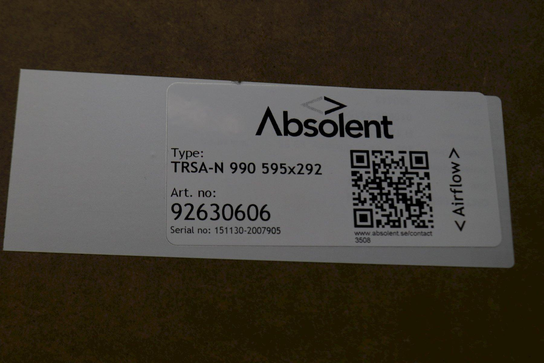 ABSOLENT MODEL ODF-2000 OIL MIST COLLECTOR: STOCK #73782